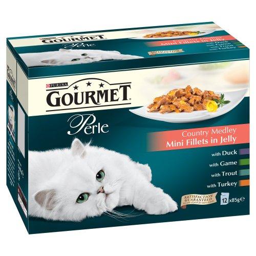 Gourmet Perle Pouch Country Medley 12x85g (Katzenfutter Medley)