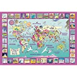 World Map Wooden (50pc) Jigsaw Puzzle by Wentworth Wooden Jigsaw Puzzles