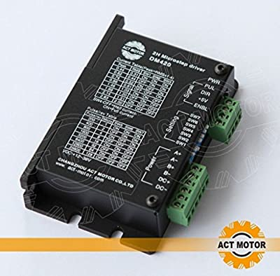 ACT Motor GmbH 1PC Stepper Motor Driver DM420 12.36VDC 2.0A für Nema17