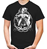 Bulldogge T-Shirt | Englische | Bulldog | Hund | M1 (L, Schwarz)