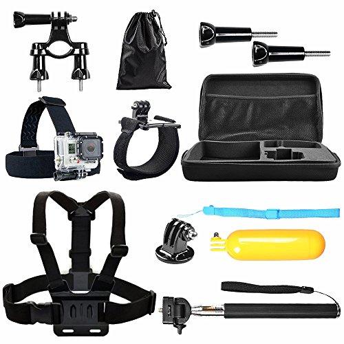 BPS 8 en 1 Kit d'accessoires pour GoPro Hero 5 4+ 3 2 1 SJCAM SJ4000 SJ5000 SJ6000 Lightdow / Xiaomi Yi / WiMiUS / dBpower / Chambre de Apeman / Action Camera Campark, Kit d'accessoires Sports de plein air