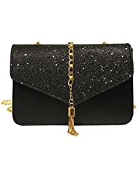 4e5eec09df Women s Bling Sequins Tassel Crossbody Shoulder Bag Clutches Evening Bags  Envelope Frosted Handbag Party Bridal Clutch
