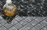 10cm x 10cm Muster. Schwarz Holografie Glas Mosaik Fliesen Muster (MT0135 sample)