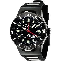Torgoen Swiss Herren T23305 T23 Schwarz 200 ATM GMT Dive Watch