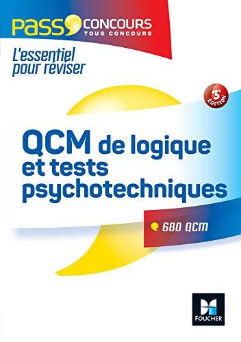 QCM de logique et Tests psychotechniques Concours fonction publique 3e édition par Michèle Eckenschwiller