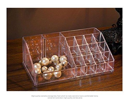 ZXLIFE@Maquillage présentoir Dresser acrylique rouge à lèvres bijoux boîte de rangement en plastique transparent , transparent powder