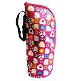 QHGstore Bottle Heat Preservation Bags Insulation Bags Water Bottle Warmers Stroller Hanging Bags rose red