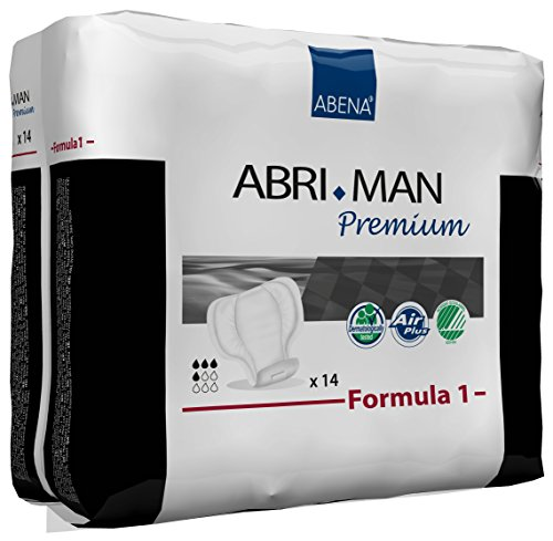 Abena 41006 Abri Man Herrenbinde Formula 1 Premium 12er Pack (168 Stk.) - Für Inkontinenz-unterwäsche Männer