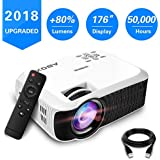2018 GooBang Doo ABOX T22 Mini Portable Projector Multimedia Home Theatre LCD Projector Support Keystone Correction And HDMI USB SD Card VGA AV Input For TV/Laptop/PS4/Xbox
