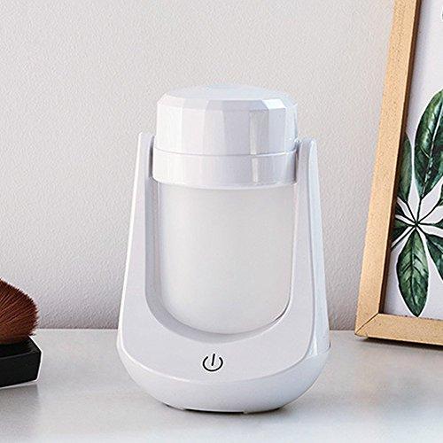 Aroma Diffuser Luftbefeuchter Oil Düfte Humidifier Holzmaserung LED mit 3 Farben für Yoga Salon Spa Wohn-, Schlaf-, Bade- oder Kinderzimmer Hotel (white)