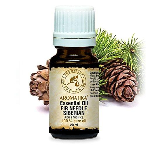Fichtennadelöl Sibirisch 20ml - Abies Sibirica - 100% Naturrein Ätherisches Fichtenöl - Tannenöl Guten für Sauna - Körperpflege - Entspannung - Aroma Diffuser - Raumduft Öl - Duftlampe - Inhalation