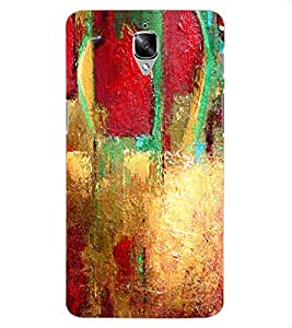 ColourCraft Abstract Painting Design Back Case Cover for OnePlus Three