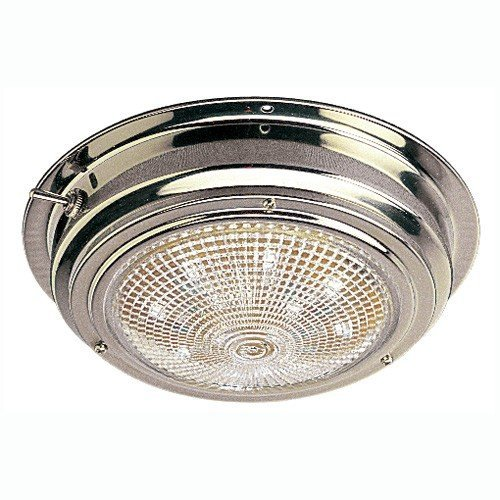 Sea Dog 400203-1 LED Stainless Steel Dome Light with 5-Inch Lens by Sea Dog Line Dome Light Lens