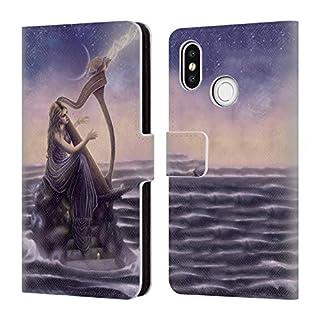 Head Case Designs Offizielle Tiffany Tito Toland-Scott Musik Göttinnen Brieftasche Handyhülle aus Leder für Xiaomi Mi 8