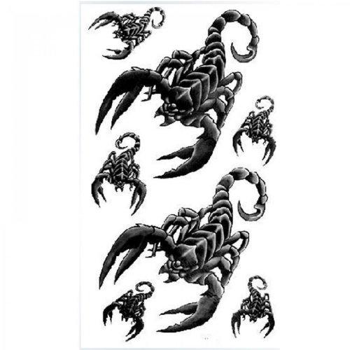 Spestyle impermeabile tatuaggio temporaneo non tossico stickersnew rilasciare impermeabile tatuaggi temporanei uomini e donne sexy moda scorpione nero