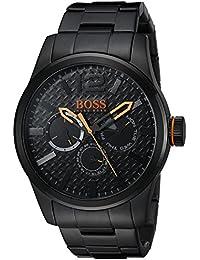 Hugo Boss Herren Schwarz Stahl Armband und Fall Quarz analoge Uhr 1513239