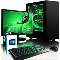 "VIBOX Precision 6.167 Gaming PC Computer with Game Voucher, Windows 10 OS, 22"" HD Monitor (4.0GHz AMD FX Quad-Core Processor, Nvidia GeForce GT 710 Graphics Card, 16GB RAM, 120GB SSD, 3TB HDD)"