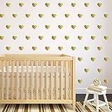 42Stück Wand Goldene Herzen 3x 4cm-Sticker Schlafzimmer Kinder Babyphone Salon Hall von Open Buy