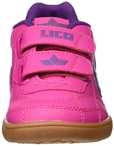 Lico Bernie V, Chaussures de Fitness Fille Rose (Pink/Lila/Weiss)
