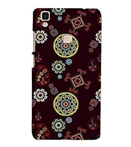 PrintVisa Designer Back Case Cover for Vivo V3 (data card routers Floral Fabric Pattern)