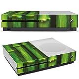 Microsoft XBox One S Folie Skin Sticker aus Vinyl-Folie Aufkleber Bambus Plant Pflanze