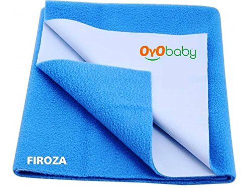 Oyo Baby - Quickly Dry Super Soft, Reusable Mat / Absorbent Sheets / Mattress Protector (Size:70 Cm X 50 Cm) / (28 Inch X 19 Inch ) Firoza,S  available at amazon for Rs.153