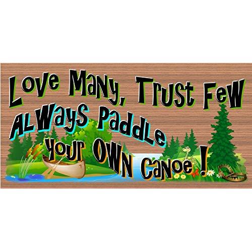 C-US-lmf379581 Panneau en Bois Humoristique avec Inscription « Always Paddle Your Own Canoe » 20,3 x 40,6 cm