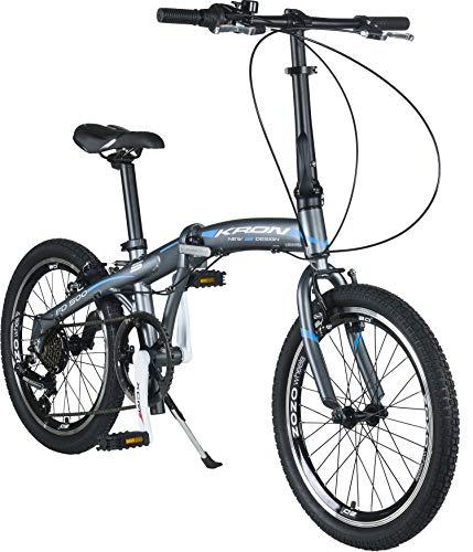 """Faltbares Fahrrad First Class 20/"""" Aluminium Shimano 6V Komfortsattel"""