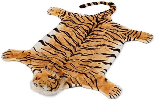 BRUBAKER Tigerfell braun 215cm x 120cm (mit Schwanz) Bettvorleger Kaminvorleger