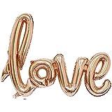 Coscelia LOVE Luftballons Folienballon Hochzeit Party Deko Buchstabeballons