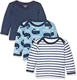 Care Barba, T-Shirt Bébé Garçon, Lot de 3, Multicolore (Deep Skye Blue), 56