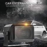 Motto.h Externer Autolautsprecher Tragbarer Lautsprecher Auto-Lautsprecherboxen Schwarz - Externe Soundbox-Lautsprecherboxen Beinhaltet Mit 3.5-mm-Audiostecker Und Verstellbarer Halterung Imaginative -