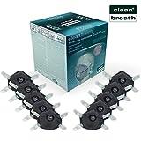 Atemschutz-Maske FFP3 mit Aktivkohle-Filter (10 Stk.) in absoluter Premium-Qualität | Exzellenter Atemschutz bei optimalem Sitz | Einweg Feinstaub Masken (Halbmaske über Mund und Nase) von CLEAN BREATH