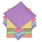Qinlee Origami Papier Bunt Papier Irisierendes Papier oder Herzförmiger Druck Papier DIY Origami Bastelbedarf 15*15cm Origami Zufällige Farbe (30 Stück)