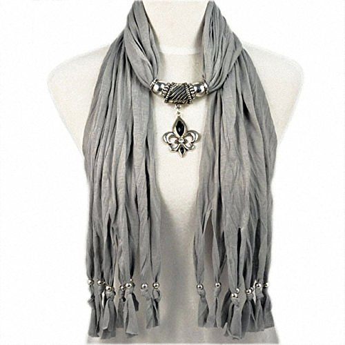 New Product Fashion Pendant Jewelry Necklace Scarfs for Women butterf drop pendant scarf necklace with beads tassels