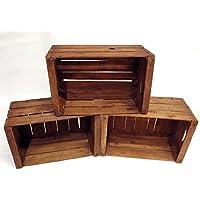 Set 3 cassette in legno vintage restaurate - consigliate per la realizzazione di mobili, scaffali, librerie etc... // casse mela, casse legno, casse Shabby,arredamento