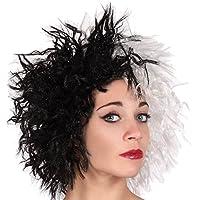 Atosa - Caja plast/ Peluca Blanca y Negra Cruel