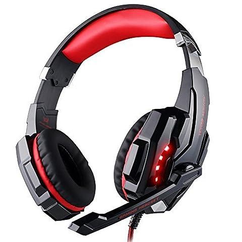 Gaming Headset PS4, VersionTech 3,5mm Stereo Wired Over-Ear-Kopfhörer mit Mikrofon