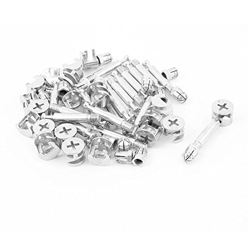 Sourcingmap® Knock Down Möbel Cam Lock Dübel montieren 20Sets (Möbel Cam-lock-schraube)