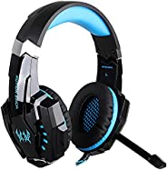 KOTION EACH 3.5mm Gaming Headphones casque Stereo Earphone Headset with Mic LED Light for Laptop Tablet / PS4