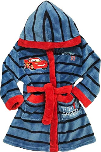 Disney Cars Bademantel Kimono Gürtel Kapuze Morgenmantel blau ()
