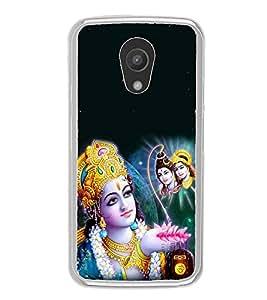 Fiobs Designer Back Case Cover for Motorola Moto G2 :: Motorola Moto G (2nd Gen) (Shriram Pray Shiva Ram Mahadev Parvati)