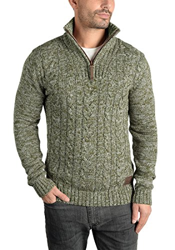 SOLID Pip - Pull en Maille- Homme Ivy Green (3797)