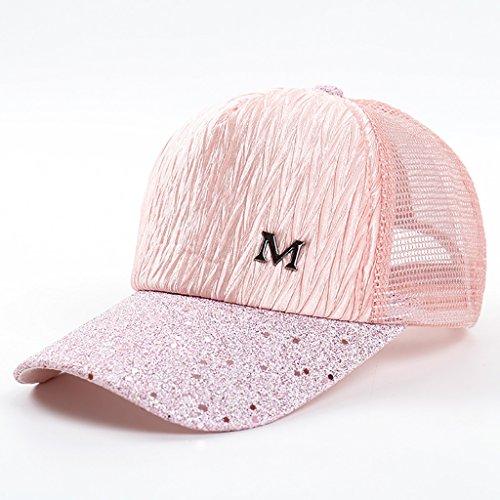 HSRG Hats Breathable Quick Dry Mesh Baumwolle Baseball Mütze Sonnenschutzkappe Einstellbare Sonnenhut Für Männer Frauen,Pink