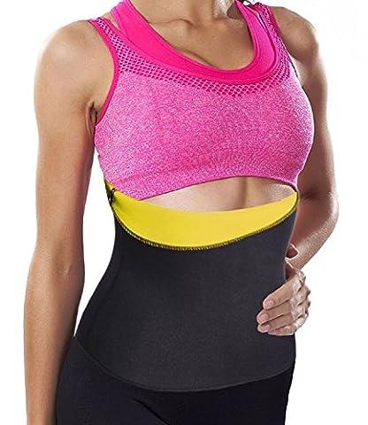 Hot Thermo Sweat Belt, Slimming Taillenmieder Bauchweggürtel Body Girlde (XL(2-3 Days Delivery), Yellow(Local Seller))