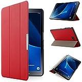 iHarbort® Premium Hülle für Samsung Galaxy Tab A 10.1 (SM-T580/T585) - Samsung Galaxy Tab A 10.1 hülle Etui Schutzhülle Case Cover Holder Stand mit Smart Auto Wake / Sleep-Funktion (Rot)