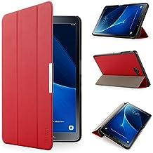 Samsung Galaxy Tab A 10.1 Funda - iHarbort ultra delgado ligero Funda de piel de cuerpo entero para Samsung Galaxy Tab A 10.1 pulgada (2016 Version SM-T580N SM-T585N) con la función del sueño / despierta (Galaxy Tab A 10.1, rojo)