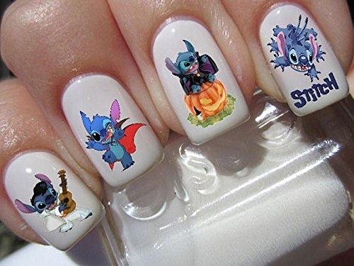Lilo & Stitch Halloween Scary Disney Nail Art Wasserrutsche Abziehbilder Nail Design Set # H2