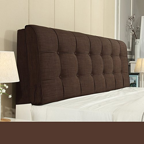 Dossier De Chevet Design ergonomique Coussin de chevet Tissu Linge de lit Sac sans douille Grand dossier Ensemble de coussin Housse de lit Big Pillow Pure Color 58 * 150cm (Couleur : H)