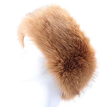 YANIBEST Damen Winter Kunstpelz Stirnband mit Weiche Ohrenschützer Ski Hat